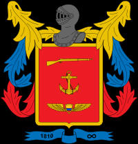 Tri-Service badge of the Colombian military